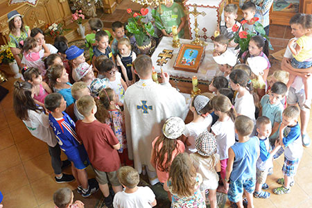 Завершився дитячий літній табір «Веселі Канікули з Богом» на парафії церкви Вознесіння ГНІХ