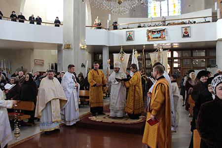Празник первомученика й архидиякона Стефана в Катедральному соборі