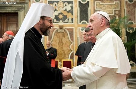 Папа Франциск прийняв Главу УГКЦ Блаженнішого Святослава