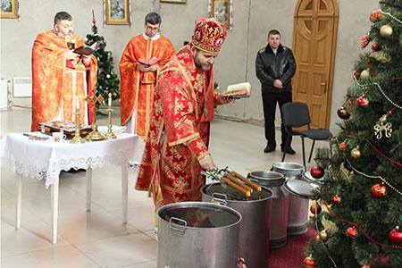 Богослужіння Навечір'я Богоявління в катедральному соборі