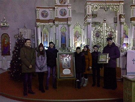 До Бучацької Єпархії прибула копія Вишгородської ікони Пресвятої Богородиці та мощі св. Івана-Павла ІІ Папи Римського