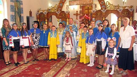 Посвята дітей c. Лосяча у ряди Марійської та Вівтарної дружини