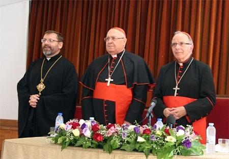 Блаженніший Святослав разом з єпископами Східних Католицьких Церков Європи зустрівся з Патріархом Лісабона