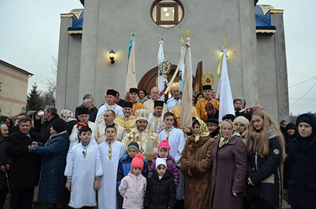 Посвячення новозбудованого храму в с. Бедриківці