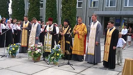 День народження Державного прапора святкували в м. Чорткові