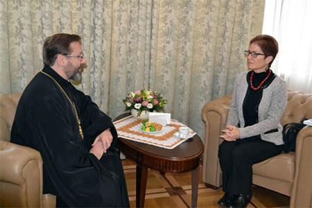 Глава УГКЦ зустрівся із Послом США в Україні: говорили про корупцію, реформи, незаконне будівництво біля Патріаршого собору