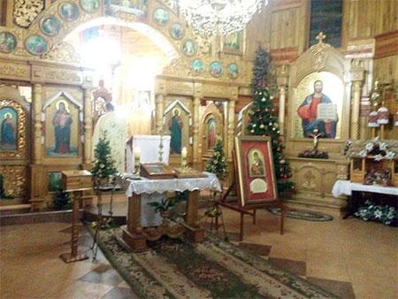 Мощі святого Папи Івана Павла ІІ у Чорткові на Парафії Вознесіння Господнього
