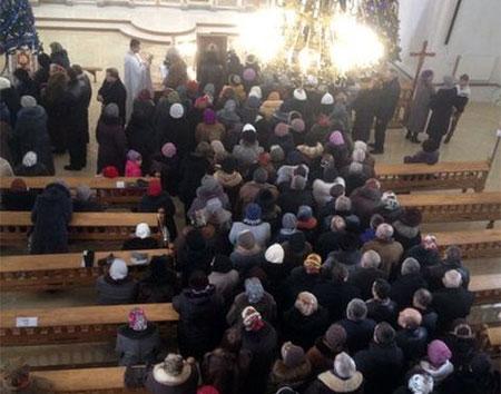 Мощі св. Папи Івана-Павла II та ікона Вишгородської Богородиці в Хоросткові