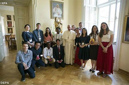 Папа Франциск до Уляни Журавчик: Я з вами! Я, насправді, з вами і вас підтримую!
